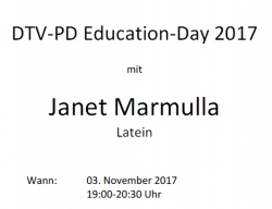 DTV-PD Education Day Latein am 3. November 2017