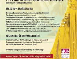 Save the Date - Events für TSTV Mitglieder in 2018/19
